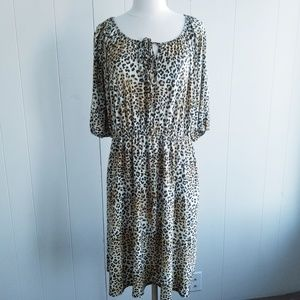 1980s Promises Promises Leopard Print Dress
